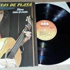Discos de vinilo: 2 LP - MANITAS DE PLATA - LIBRES COMO EL VIENTO - MADE IN FRANCE. Lote 224466215