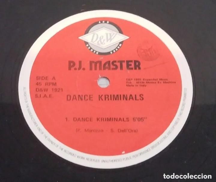 P.J. MASTER / DANCE KRIMINALS / MAXI-SINGLE 12 INCH (Música - Discos de Vinilo - Maxi Singles - Otros estilos)