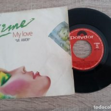 Discos de vinilo: LIME .MY LOVE.TAKE IT UP. SINGLE 1984.POLYDOR.. Lote 224471372