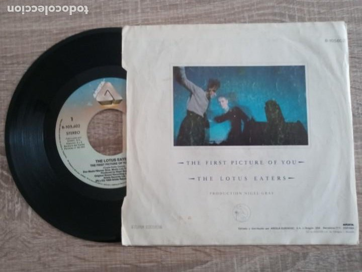 Discos de vinilo: THE LOTUS EATERS .THE FIRST PICTURE OF YOU.SINGLE 1983 - Foto 2 - 224471781