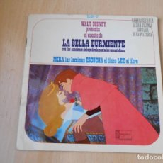 Discos de vinil: WALT DISNEY - LA BELLA DURMIENTE -, EP, CUENTO CASTELLANO + 3, AÑO 1968. Lote 224476525