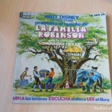 Discos de vinilo: WALT DISNEY - LA FAMILIA ROBINSON -, EP, CUENTO CASTELLANO + 2, AÑO 1976. Lote 224478393