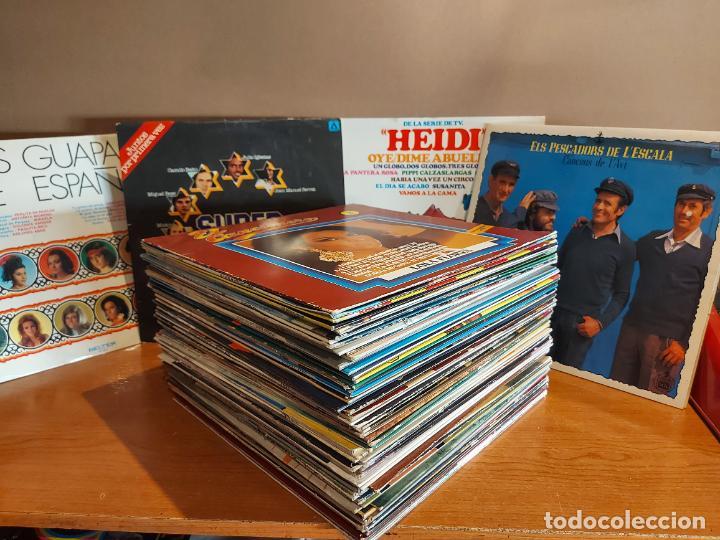17 KILOS DE MÚSICA / 80 LPS POP-ROCK Y VARIADO / DE BUENA CALIDAD / SIN MARCAS PROFUNDAS. VER FOTOS. (Música - Discos - LP Vinilo - Otros estilos)