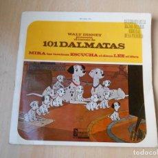 Discos de vinil: WALT DISNEY - 101 DALMATAS -, EP, CUENTO CASTELLANO + 2, AÑO 1968. Lote 224480325