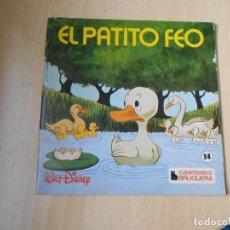 Discos de vinil: CUENTODISCO BRUGUERA - WALT DISNEY -, EP, EL PATITO FEO + 2, AÑO 1972. Lote 224484485