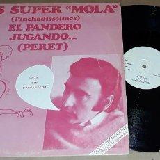 Discos de vinilo: MAXI SINGLE - PERET - EL PANDERO - PROMO - PERET - EL PANDERO / JUGANDO. Lote 224489111