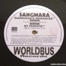 Discos de vinilo: SANGWARA / GANGSTA'S PARADISE / MAXI-SINGLE 12 INCH. Lote 224491996