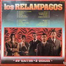 Discos de vinilo: *** LOS RELÁMPAGOS - 20 ÉXITOS - DOBLE LP AÑO 1981 - LEER DESCRIPCIÓN. Lote 224494946