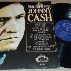 Discos de vinilo: LP - JOHNNY CASH - THE MAGNIFICENT JOHNNY CASH - 1° EDICIÓN MADE IN ENGLAND - CASH. Lote 224496851