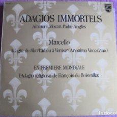Disques de vinyle: LP - ADAGIOS INMORTALES - - VARIOS (VER FOTO ADJUNTA) (SPAIN, PHILIPS 1972). Lote 224508227