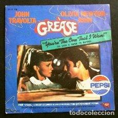 Discos de vinilo: GREASE (SINGLE BSO 1978) JOHN TRAVOLTA Y OLIVIA NEWTON JOHN - YOU'RE THE ONE THAT I WANT. Lote 224511158