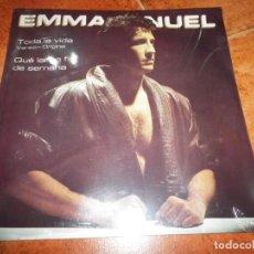 Discos de vinilo: EMMANUEL TODA LA VIDA MAXI SINGLE VINILO PRECINTADO 1986 MEXICO TEMAS DE JUAN CARLOS CALDERON. Lote 224513675