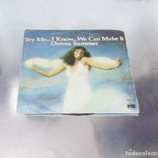 Discos de vinilo: DONNA SUMMER ---TRY ME .. I KNOW ... WE CAN MAKE IT / WASTED------- ( VINILO/ FUNDA VG+ ). Lote 182595958