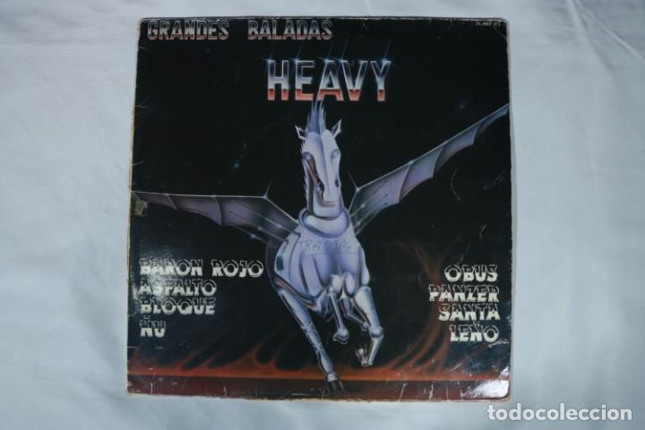 GRANDES BALADAS HEAVY - BARÓN ROJO - ASFALTO - ÑU - BLOQUE - PANCER - LP ZAFIRO 1986- LS3 (Música - Discos - LP Vinilo - Heavy - Metal)