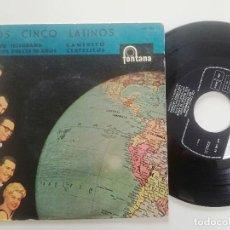 Discos de vinilo: LOS 5 LATINOS - UN TELEGRAMA + 3 - EP FONTANA 1960. Lote 224528720