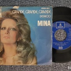 Discos de vinilo: MINA - GRANDE, GRANDE, GRANDE / DESPACIO. EDITADO POR EMI. AÑO 1.972. Lote 224529820