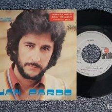 Discos de vinilo: JUAN PARDO - AGUA / CONVERSACIONES CONMIGO MISMO. SINGLE PROMOCIONAL-EDITADO POR ARIOLA. AÑO 1.980. Lote 224530700