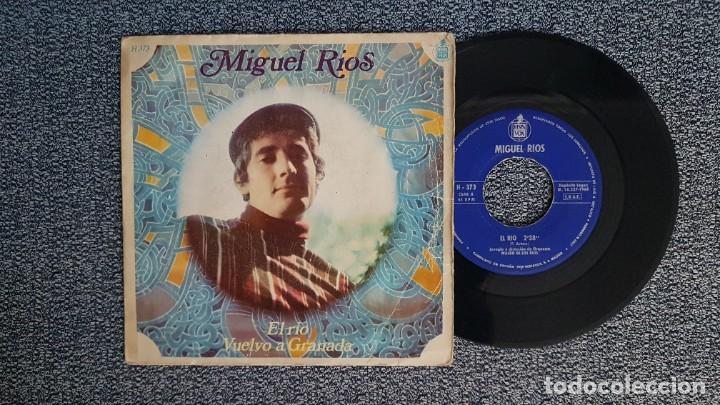 MIGUEL RIOS - EL RÍO / VUELVO A GRANADA. EDITADO POR HISPAVOX. AÑO 1.968 (Música - Discos - Singles Vinilo - Solistas Españoles de los 70 a la actualidad)