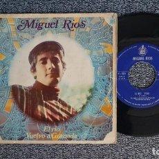 Discos de vinilo: MIGUEL RIOS - EL RÍO / VUELVO A GRANADA. EDITADO POR HISPAVOX. AÑO 1.968. Lote 224531161