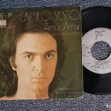 Discos de vinilo: CAMILO SESTO - AMOR AMAR / COMO CADA NOCHE. EDITADO POR ARIOLA. AÑO 1.972. Lote 224531478