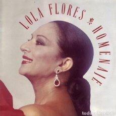 Dischi in vinile: LOLA FLORES – HOMENAJE - LP SPAIN 1990. Lote 224548896