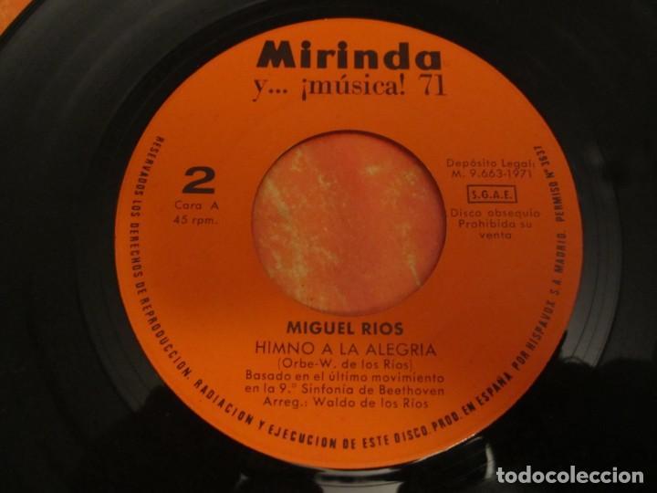 Discos de vinilo: MIGUEL RÍOS HIMNO A LA ALEGRÍA - DESPIERTA DISCO MIRINDA 1971 - Foto 4 - 224550842
