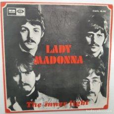 Discos de vinilo: THE BEATLES- LADY MADONNA - SPAIN SINGLE 1968- EN BUEN ESTADO.. Lote 224561990