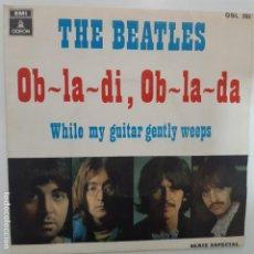Discos de vinilo: THE BEATLES- OB LA DI OB LA DA - SPAIN SINGLE 1968.. Lote 224562203