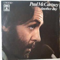 Discos de vinilo: PAUL MCCARTNEY- ANOTHER DAY - SPAIN SINGLE 1971- THE BEATLES - EXC. ESTADO.. Lote 224569718