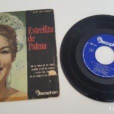 Discos de vinilo: ESTRELLITA DE PALMA SINGLE NO TE PARES EN MI VENTA Y TRES MÁS. Lote 224570760