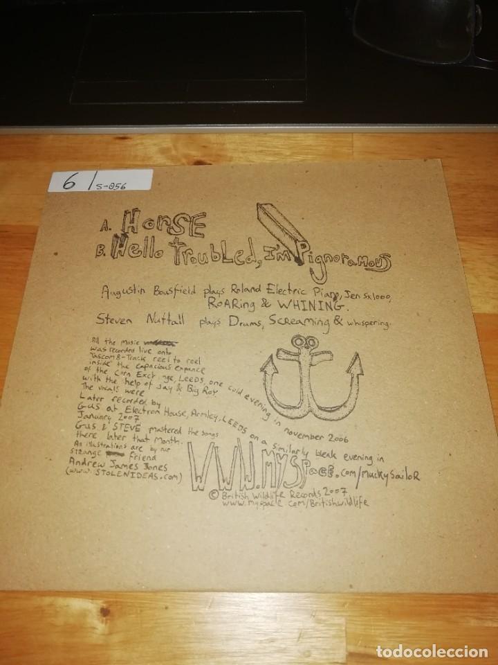 Discos de vinilo: MUCKY SAILOR - HORSE - HELLO TROUBLED IM PIGNORAMOUS - BRITISH WILDLIFE 2007 - BW002 NUMERADO - Foto 2 - 224574660