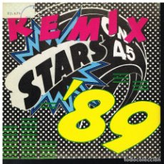 Disques de vinyle: STARS ON 45 - STARS ON '89 REMIX / STARS ON THE HOUSE - SINGLE 1989. Lote 224596813
