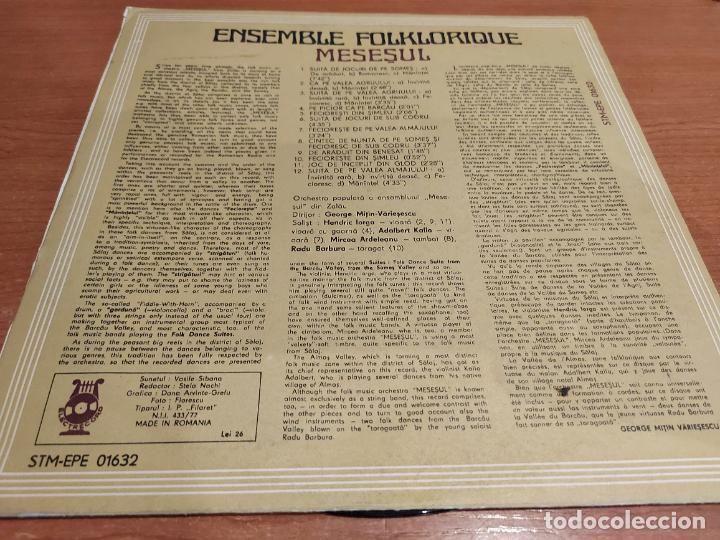 Discos de vinilo: ENSEMBLE FOLKLORIQUE / MESESUL / LP - ELECTRECORD-ROMANIA-1980 / MBC. ***/*** DIFÍCIL. - Foto 2 - 224605321