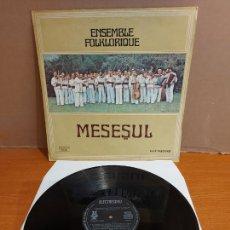 Discos de vinilo: ENSEMBLE FOLKLORIQUE / MESESUL / LP - ELECTRECORD-ROMANIA-1980 / MBC. ***/*** DIFÍCIL.. Lote 224605321