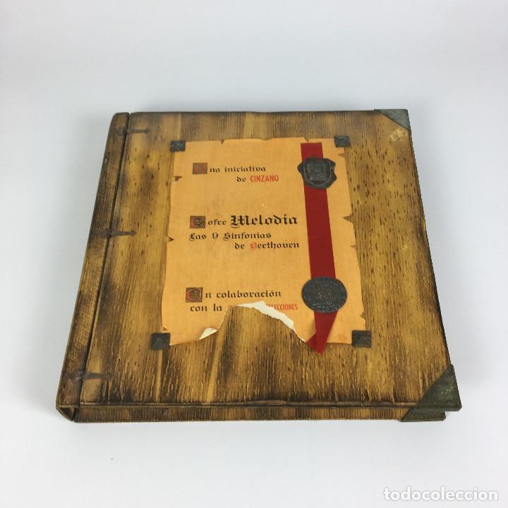 Discos de vinilo: Cofre Melodía de LAS 9 SINFONIAS de BEETHOVEN (7LPs) - CINZANO - Foto 2 - 224617545