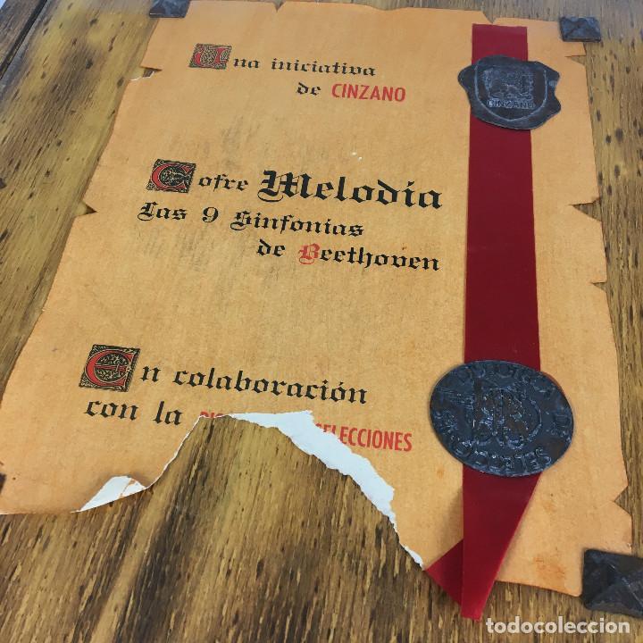 Discos de vinilo: Cofre Melodía de LAS 9 SINFONIAS de BEETHOVEN (7LPs) - CINZANO - Foto 6 - 224617545