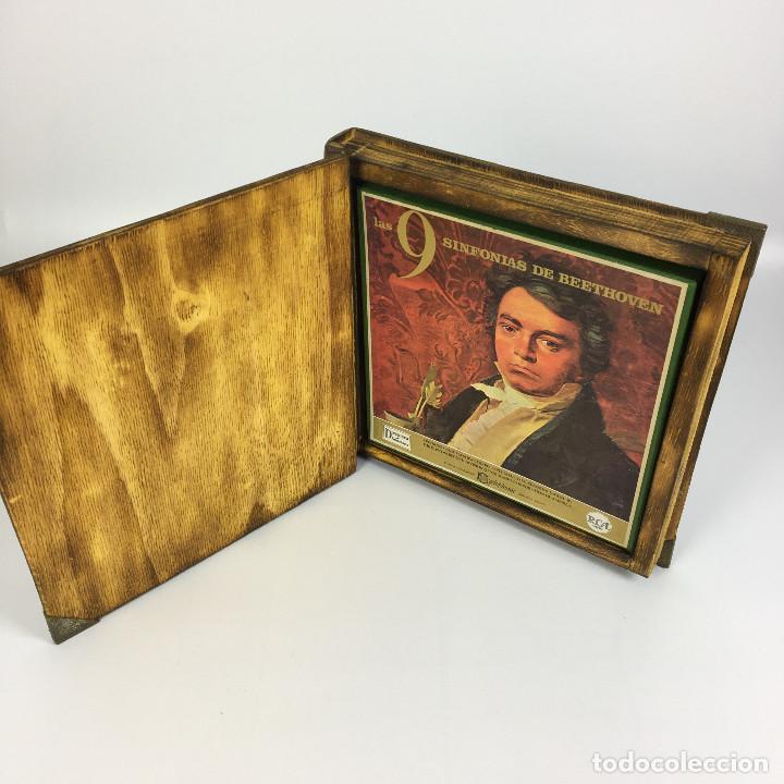 Discos de vinilo: Cofre Melodía de LAS 9 SINFONIAS de BEETHOVEN (7LPs) - CINZANO - Foto 9 - 224617545