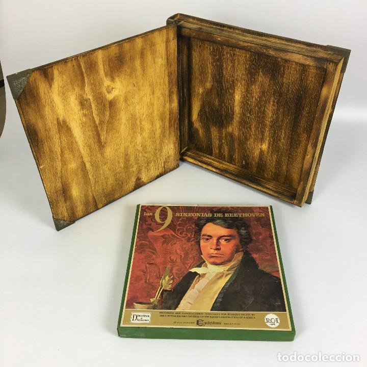 Discos de vinilo: Cofre Melodía de LAS 9 SINFONIAS de BEETHOVEN (7LPs) - CINZANO - Foto 10 - 224617545