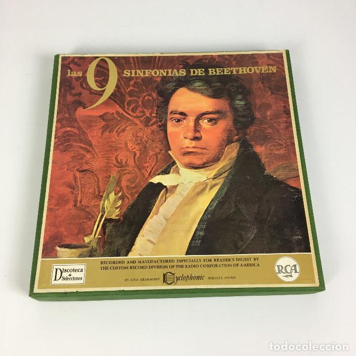 Discos de vinilo: Cofre Melodía de LAS 9 SINFONIAS de BEETHOVEN (7LPs) - CINZANO - Foto 11 - 224617545