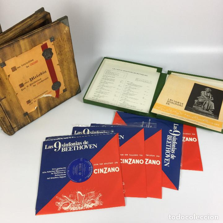 Discos de vinilo: Cofre Melodía de LAS 9 SINFONIAS de BEETHOVEN (7LPs) - CINZANO - Foto 14 - 224617545