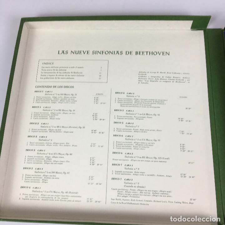 Discos de vinilo: Cofre Melodía de LAS 9 SINFONIAS de BEETHOVEN (7LPs) - CINZANO - Foto 15 - 224617545