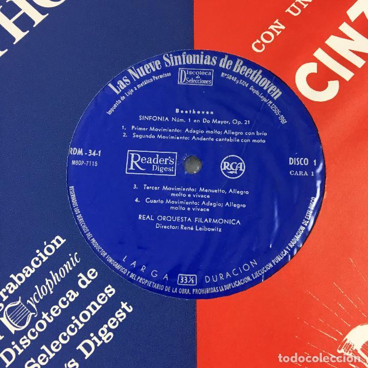 Discos de vinilo: Cofre Melodía de LAS 9 SINFONIAS de BEETHOVEN (7LPs) - CINZANO - Foto 17 - 224617545