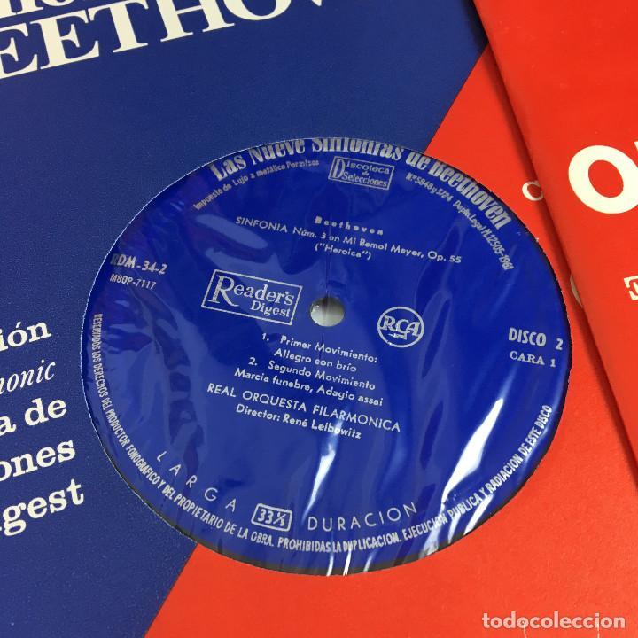 Discos de vinilo: Cofre Melodía de LAS 9 SINFONIAS de BEETHOVEN (7LPs) - CINZANO - Foto 18 - 224617545