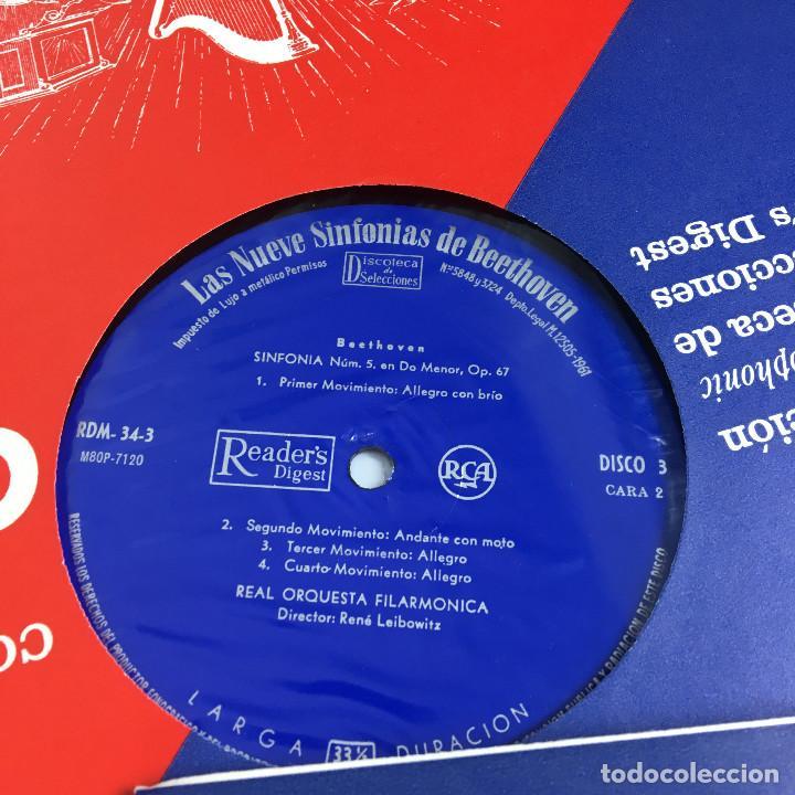 Discos de vinilo: Cofre Melodía de LAS 9 SINFONIAS de BEETHOVEN (7LPs) - CINZANO - Foto 19 - 224617545