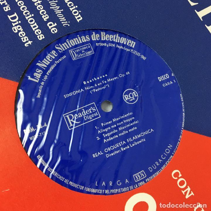 Discos de vinilo: Cofre Melodía de LAS 9 SINFONIAS de BEETHOVEN (7LPs) - CINZANO - Foto 20 - 224617545