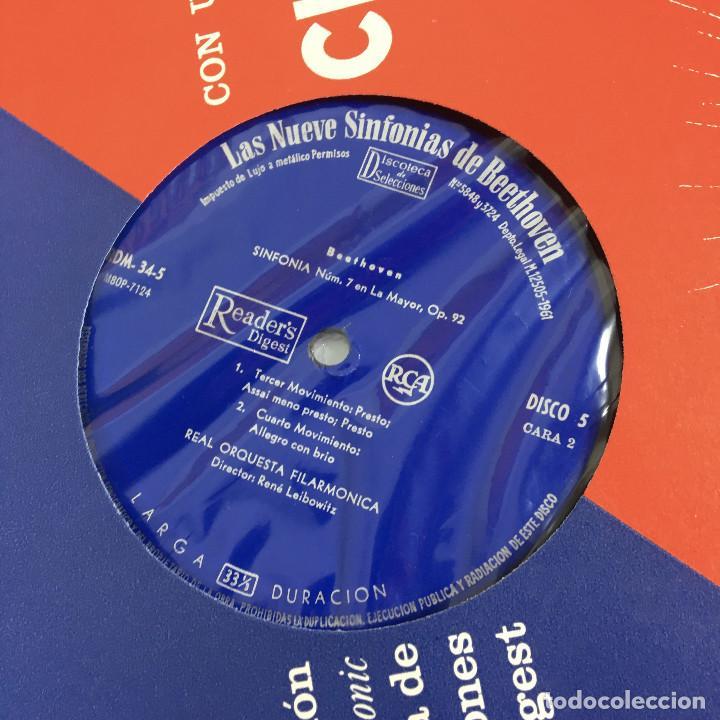 Discos de vinilo: Cofre Melodía de LAS 9 SINFONIAS de BEETHOVEN (7LPs) - CINZANO - Foto 21 - 224617545