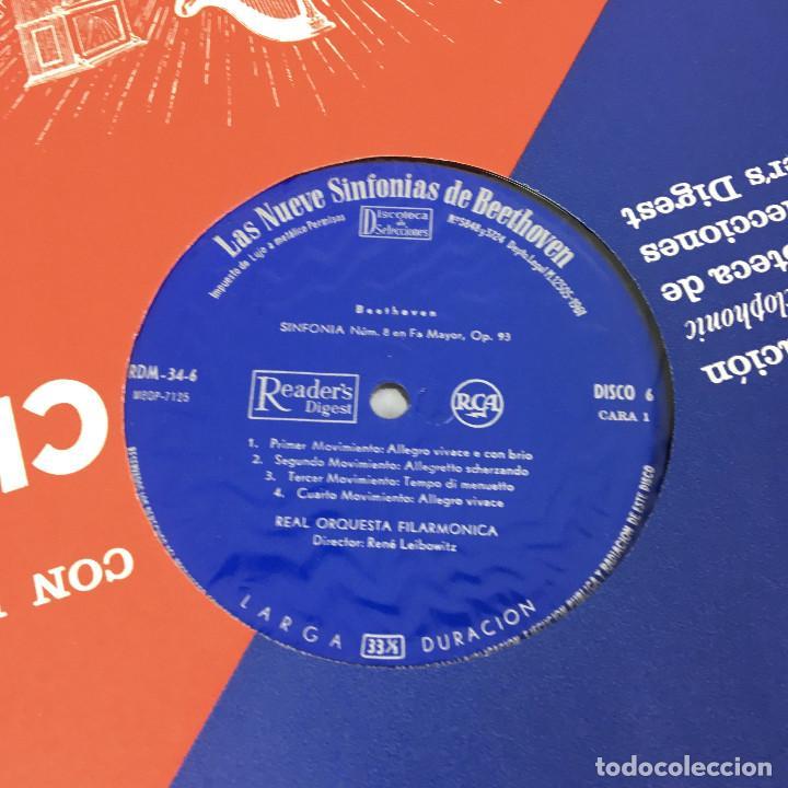 Discos de vinilo: Cofre Melodía de LAS 9 SINFONIAS de BEETHOVEN (7LPs) - CINZANO - Foto 22 - 224617545