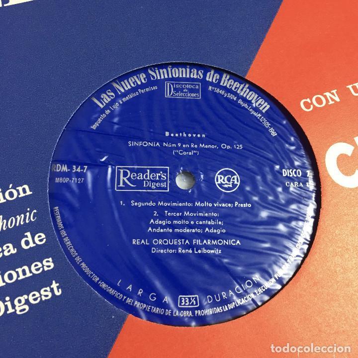 Discos de vinilo: Cofre Melodía de LAS 9 SINFONIAS de BEETHOVEN (7LPs) - CINZANO - Foto 23 - 224617545