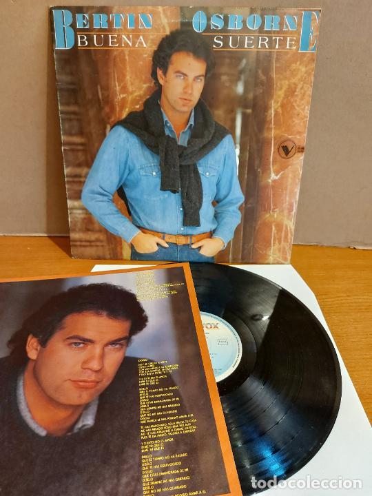 BERTÍN OSBORNE / BUENA SUERTE / LP - HISPAVOX-1985 / MBC. ***/*** CONTIENE PÓSTER-LETRAS (Música - Discos - LP Vinilo - Solistas Españoles de los 70 a la actualidad)