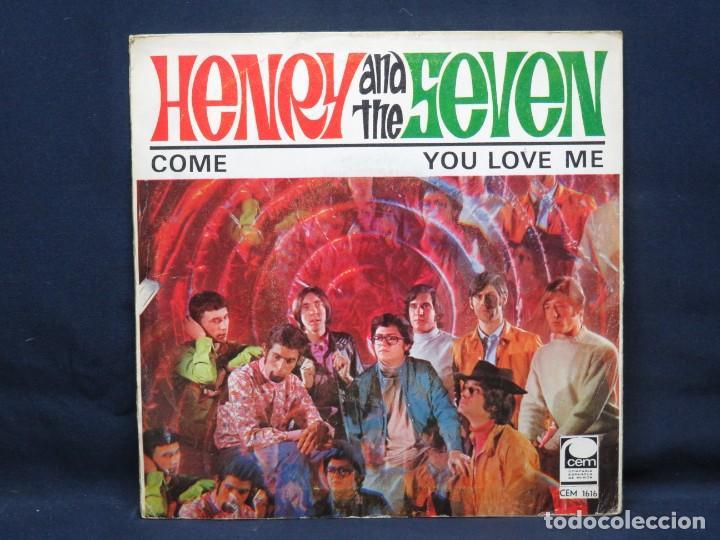 Discos de vinilo: HENRY AND THE SEVEN - COME / YOU LOVE ME - SINGLE - Foto 2 - 224640462